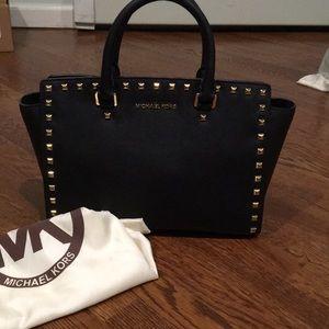 NWOT Michael Kors Selma Saffiano leather satchel
